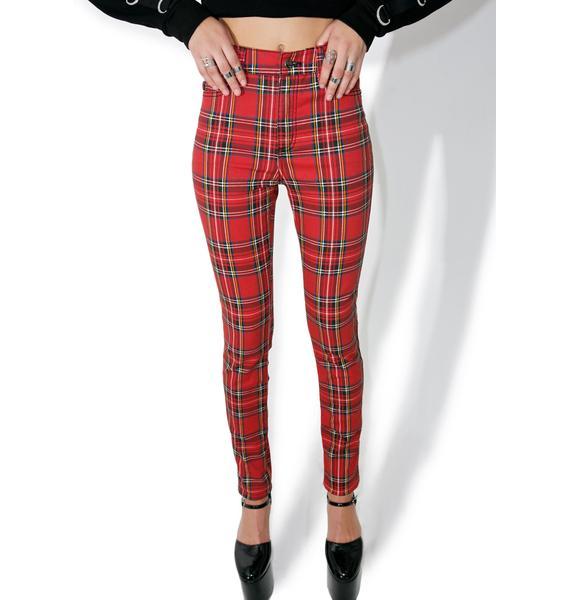 Tripp NYC High Waisted Plaid Pants