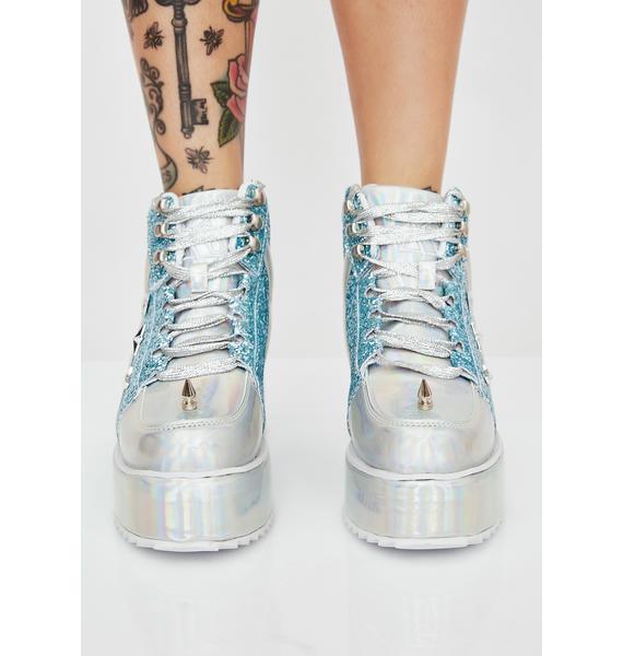 Y.R.U. Qozmo Lo Unicorn Hologram Sneakers