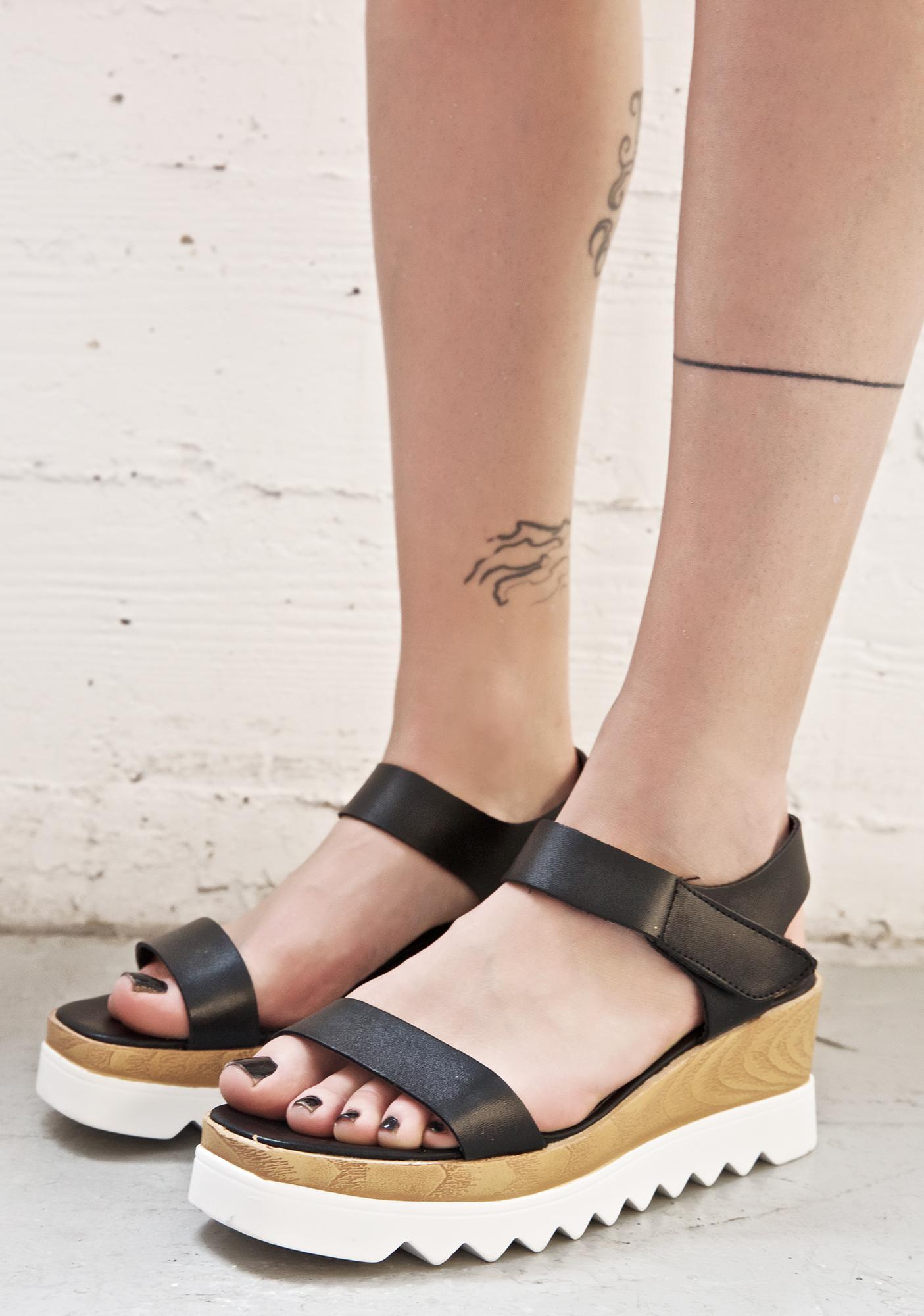 Pebble Beach Platform Sandals