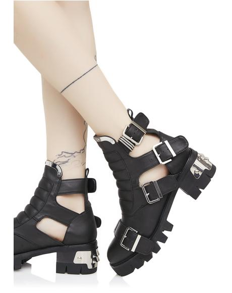 Road Warrior Cut-Out Boots
