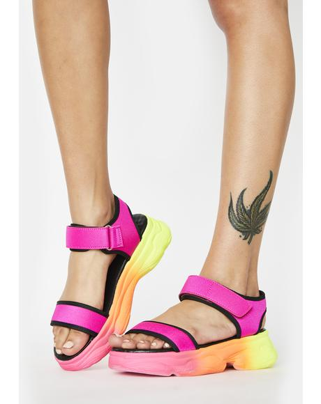 Sunset Joy Jumpin' Platform Sandals