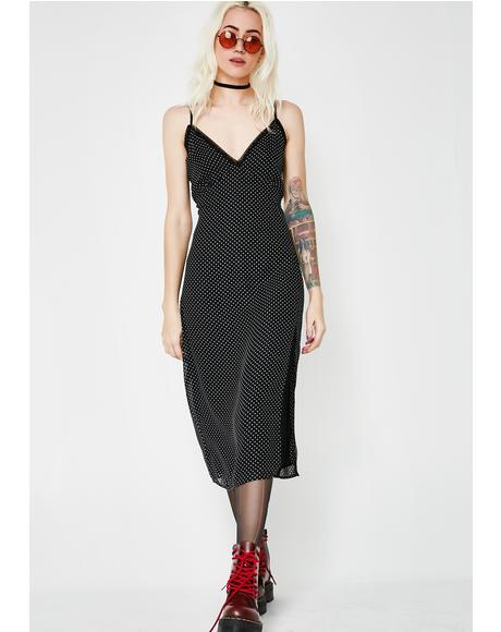 Make No Promises Polka Dot Dress