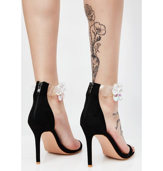 Public Desire Galaxy Embellished Barely There Stiletto Heels
