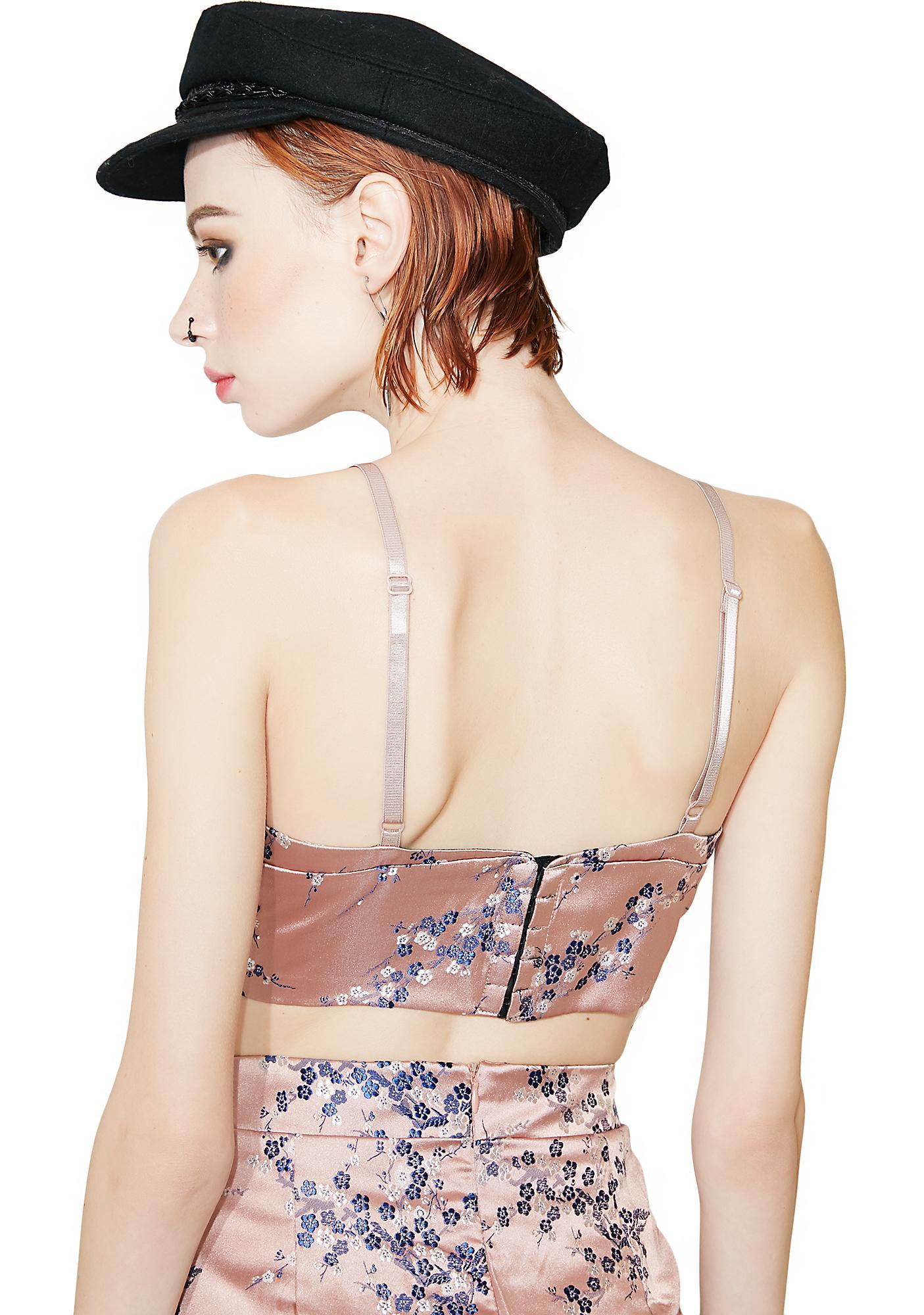 Glamorous Sakura Embroidered Bra Top