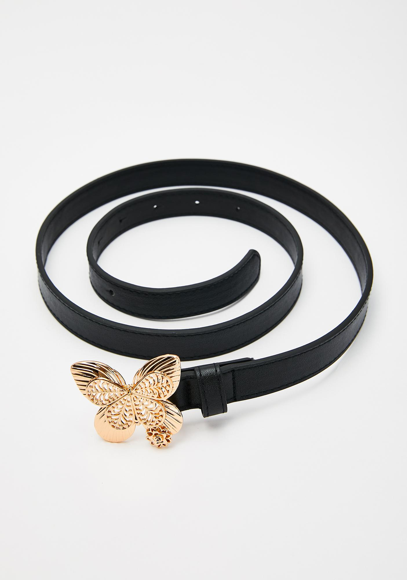 Shining Butterfly Buckle Belt
