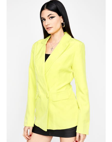 Boss Mode Neon Blazer