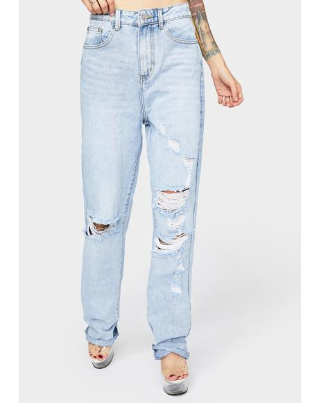 Light Wash Baggy Jeans