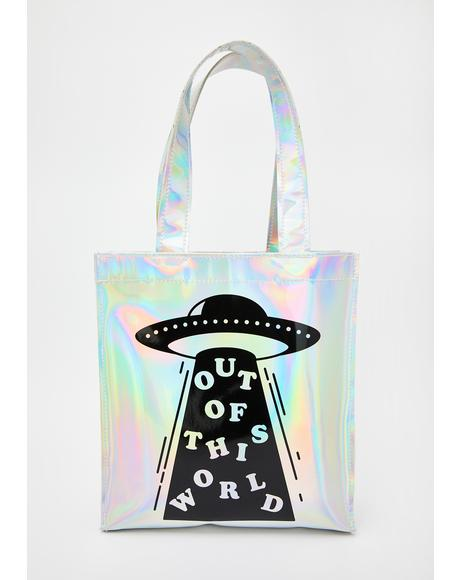 Out Of This World Holographic Tote Bag