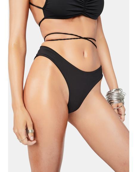 Foxy Tie Front Cheeky Bikini Bottoms