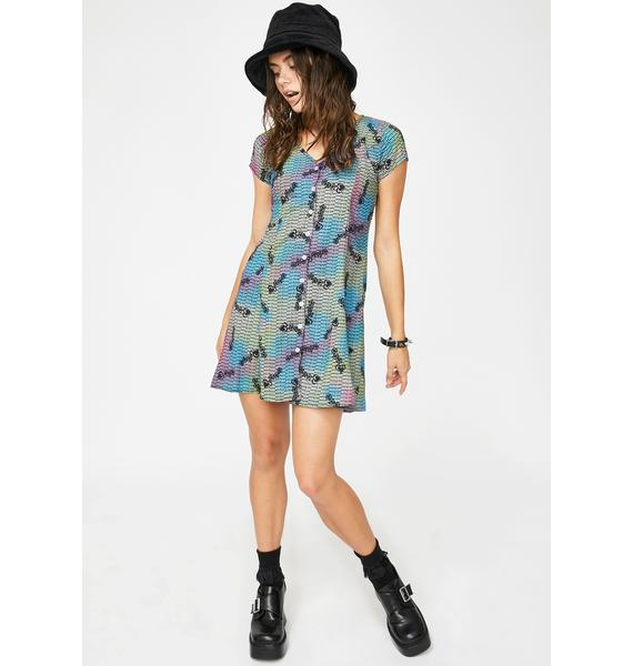 Why Not Us Back Ribbon Button Up Dress