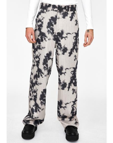 Bleach Pinstripe Relaxed Trousers