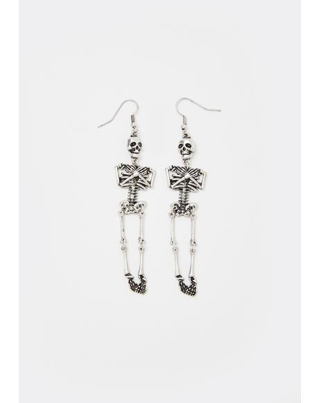 Bone Rattler Skeleton Earrings