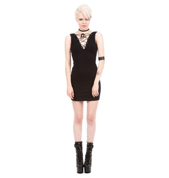 Shown To Scale Kimmy Lace Up Dress