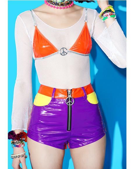 Neon Dynamite Hot Shorts