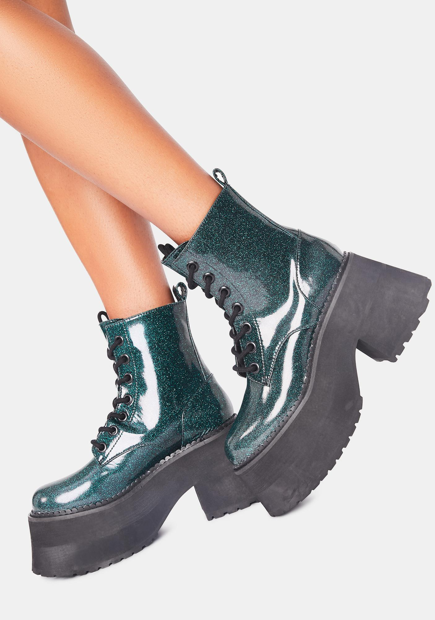 dELiA*s by Dolls Kill Absolute Alakazam Glitter Boots