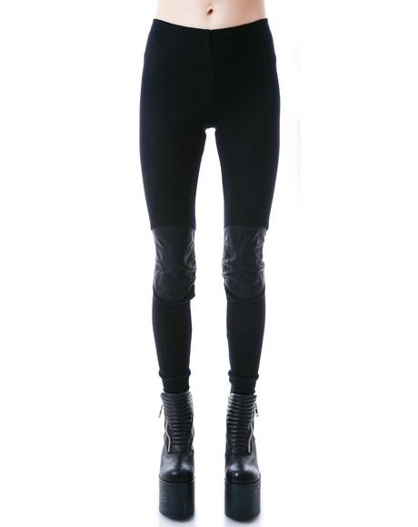 Hexes Pentagram Patch Leggings