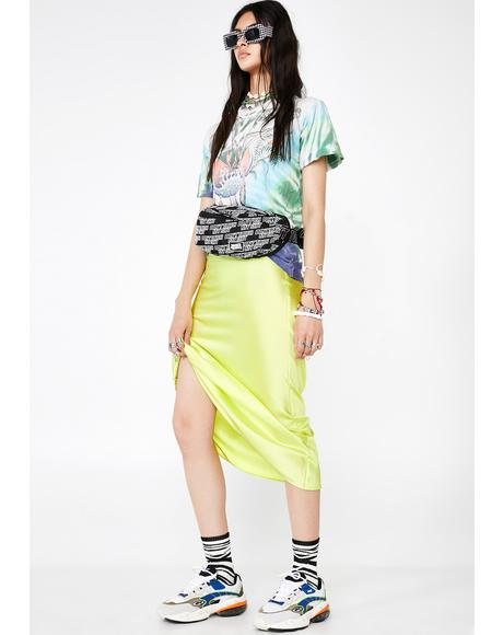 Lime Mainstream Mami Midi Skirt