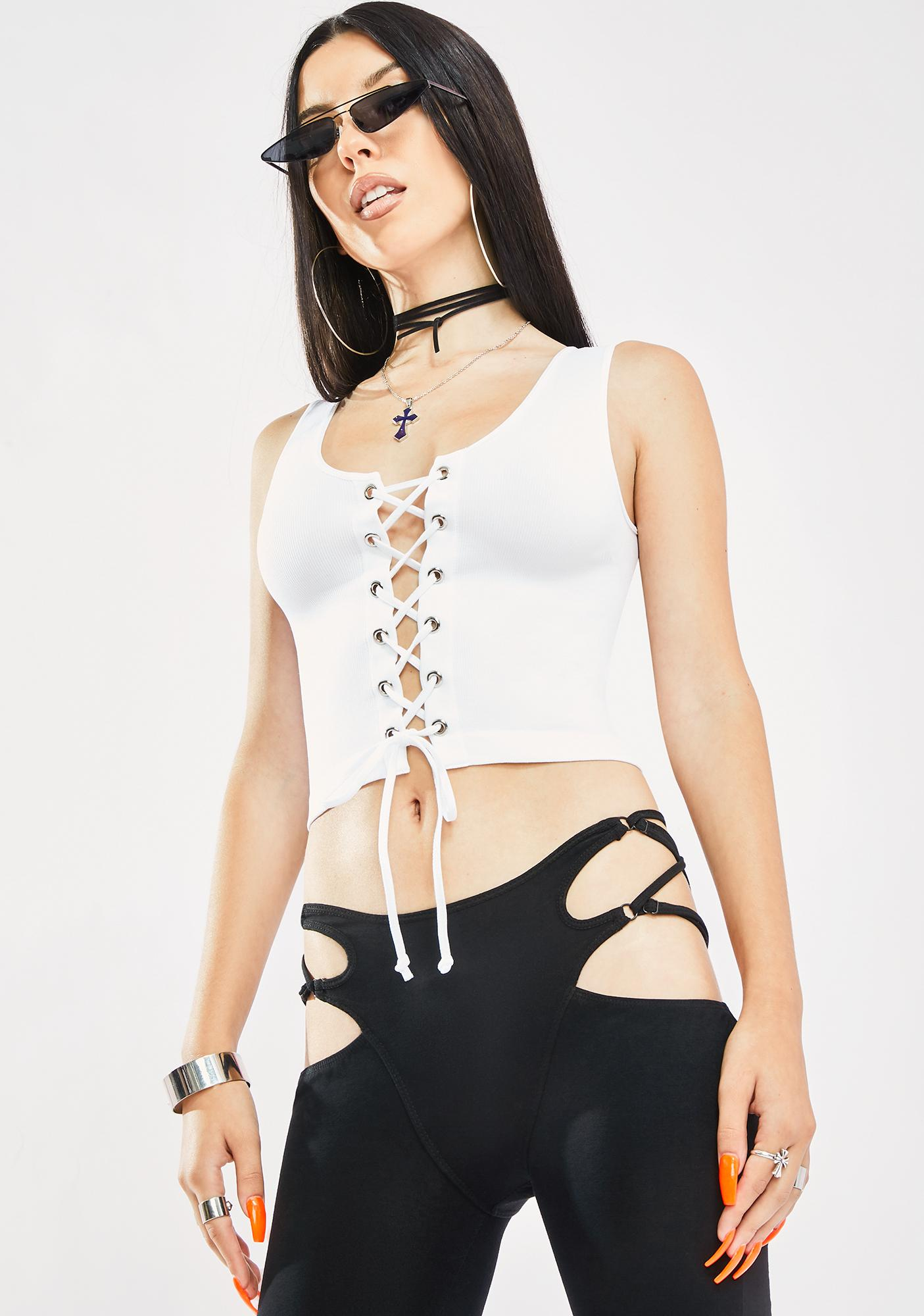 Front Row Seat Lace Up Tank