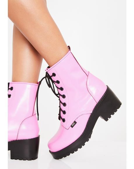 Bubblegum Chisel Boots
