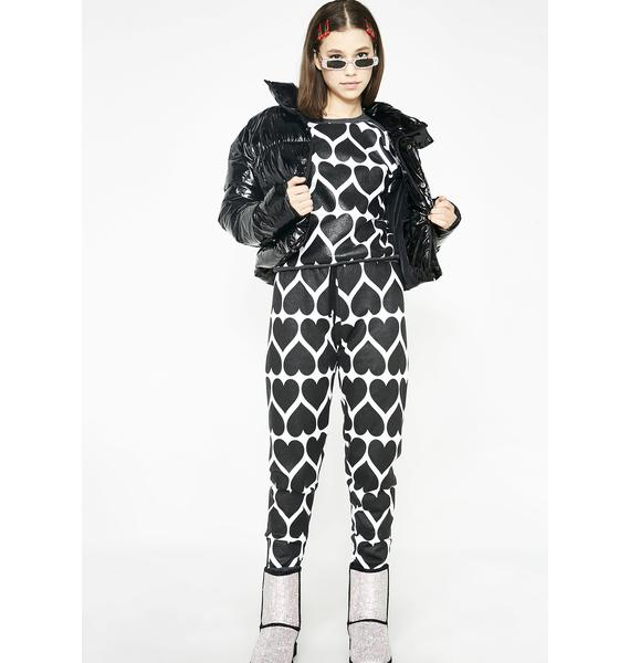 Wildfox Couture Dark Hearts Gwen Joggers