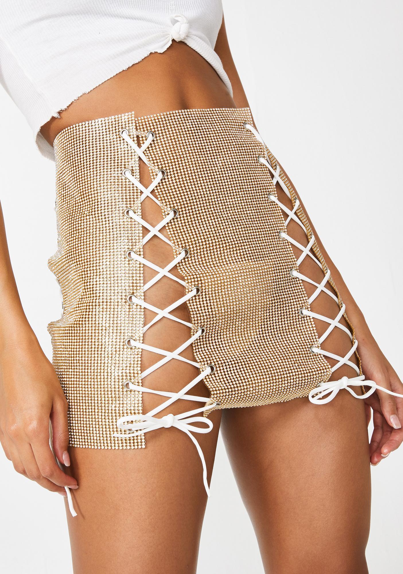 Glowin' Dare To Dance Mini Skirt