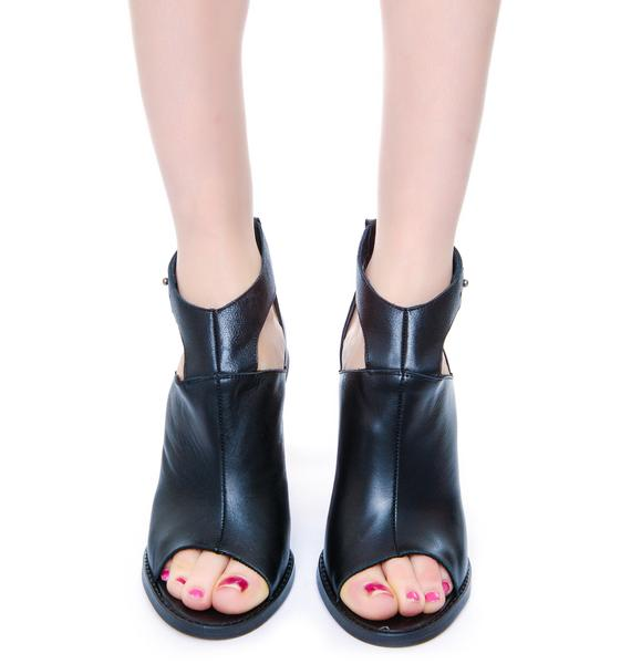 SixtySeven/MTNG Lindsey Floater Open Toe Boot