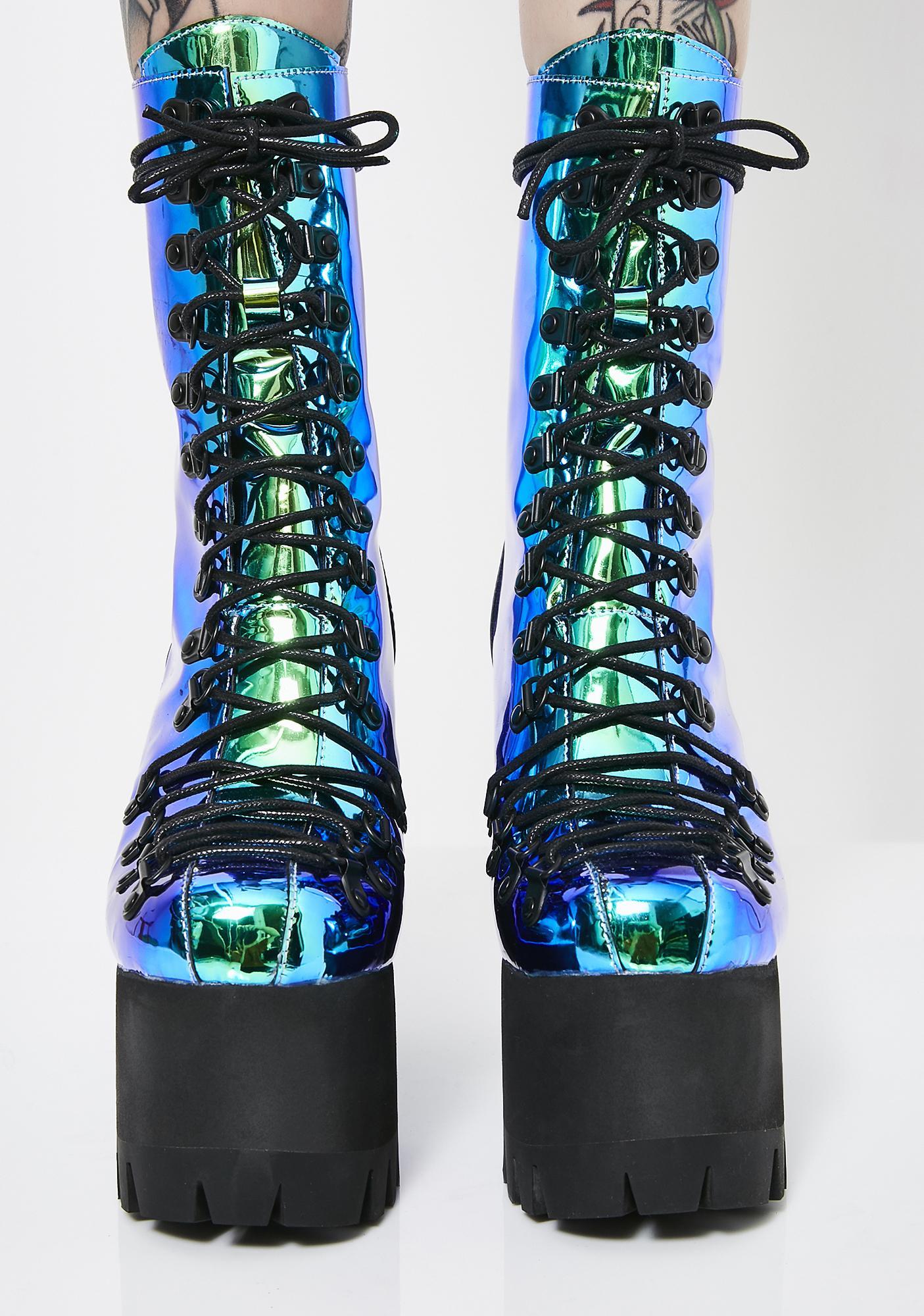 Club Exx Moonstone Platform Boots