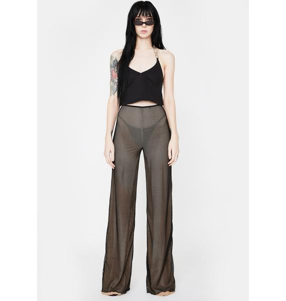 I AM GIA Black Ara Mesh Pants