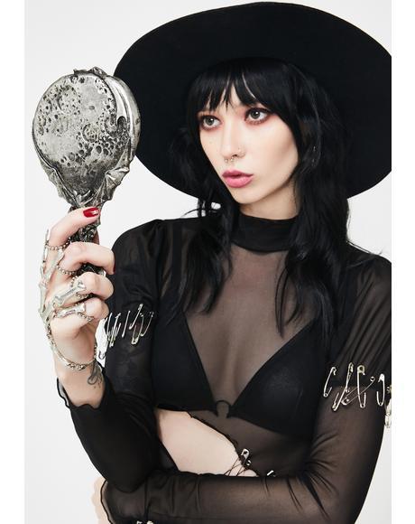 Vampire's Moon Hand Mirror