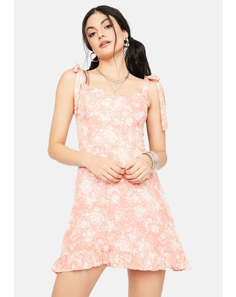 Fresh As Spring Floral Tie Strap Sundress