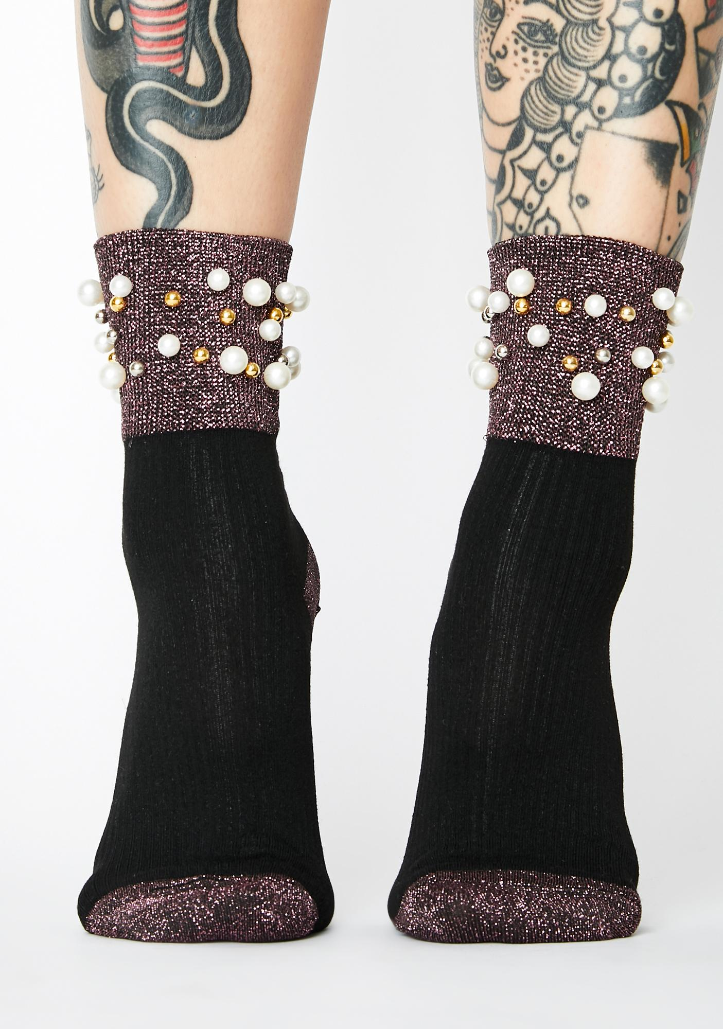 Playing Footsie Sparkly Socks