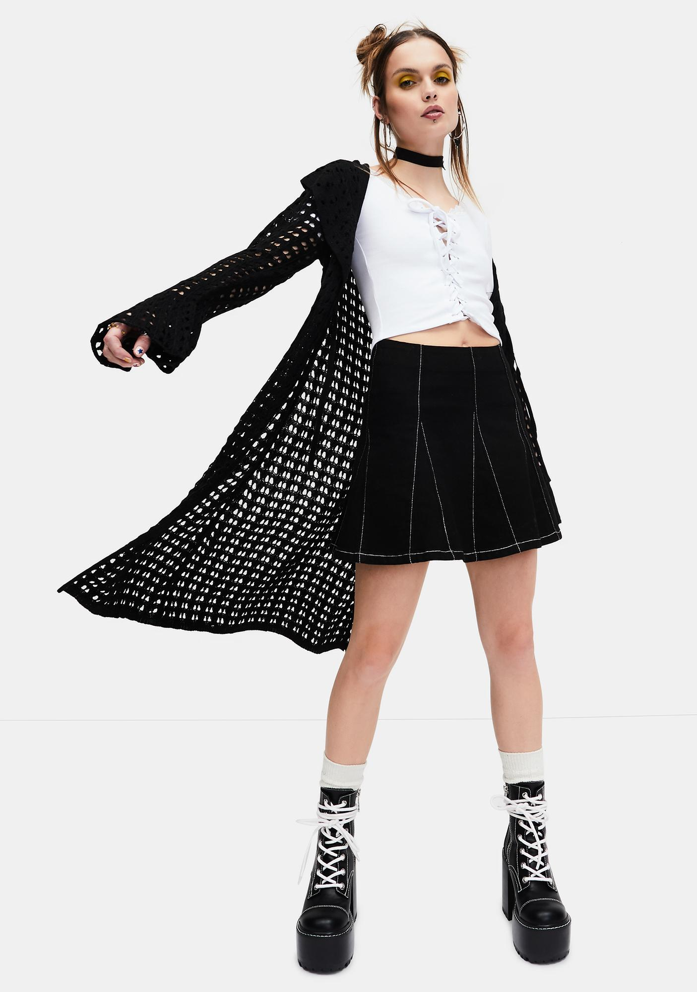 dELiA*s by Dolls Kill Taken Advice Lace-Up Crop Top