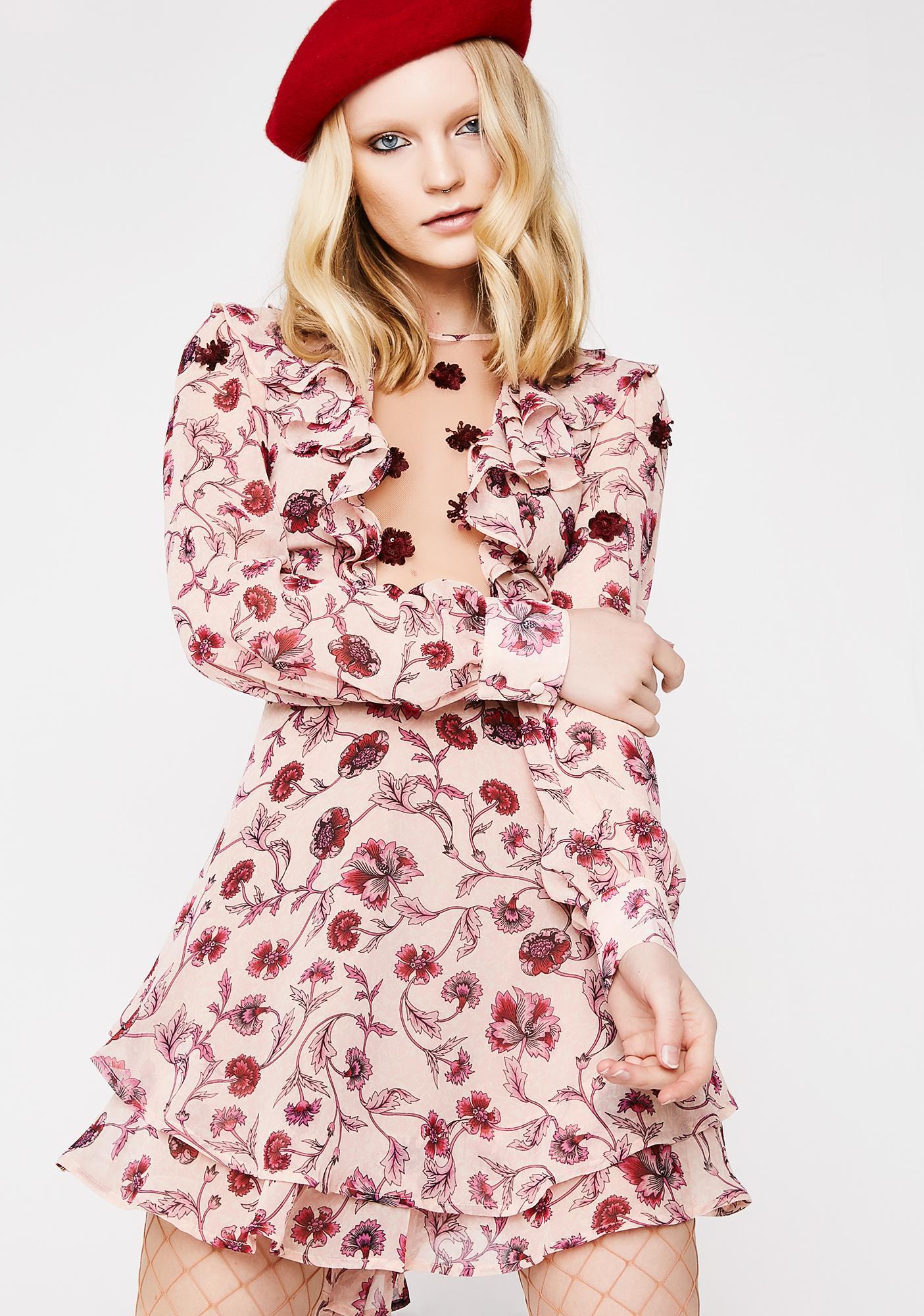 For Love & Lemons Agnes Mini Dress