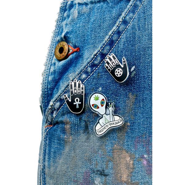 Punky Pins Alien Addict Pin