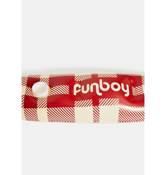 FUNBOY Plaid Shotski Float