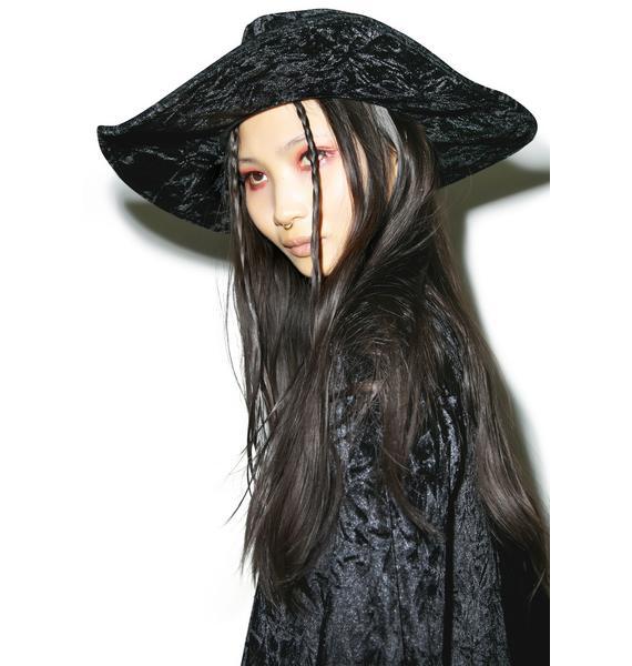Killstar Velvet Witch Brim Hat