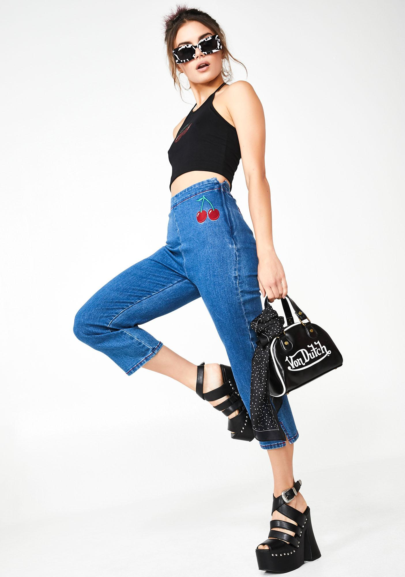 Sugar Thrillz Cherry Munroe Denim Trousers