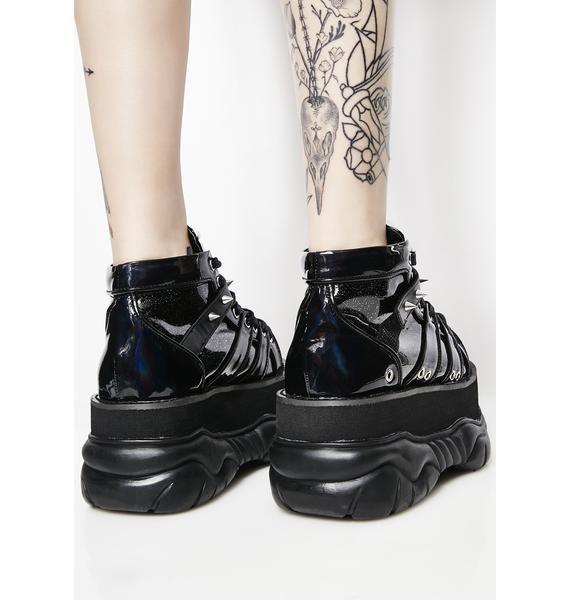 Demonia Machina UV Reactive Platform Sneakers