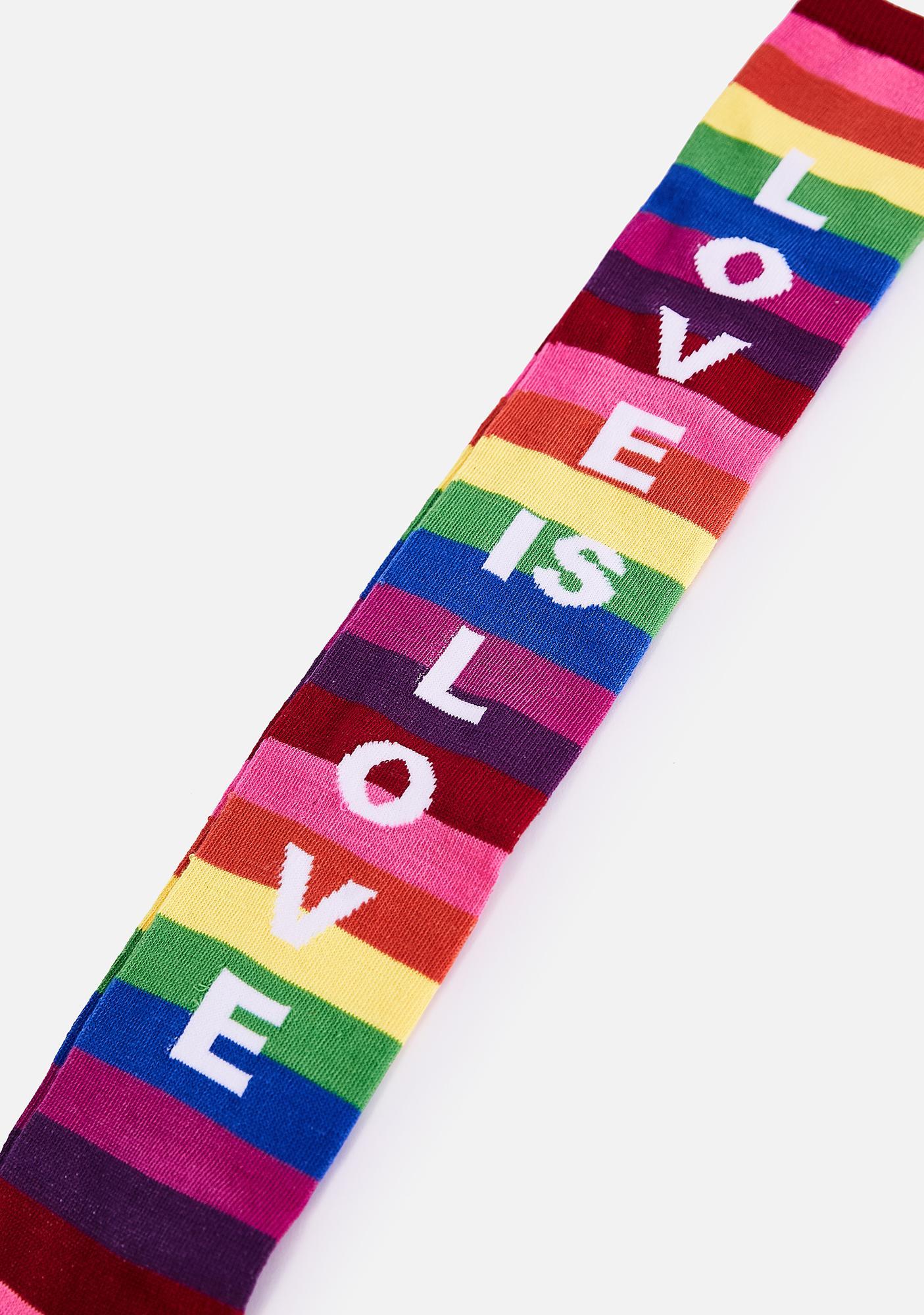 MeMoi Love Is Love Over The Knee Socks