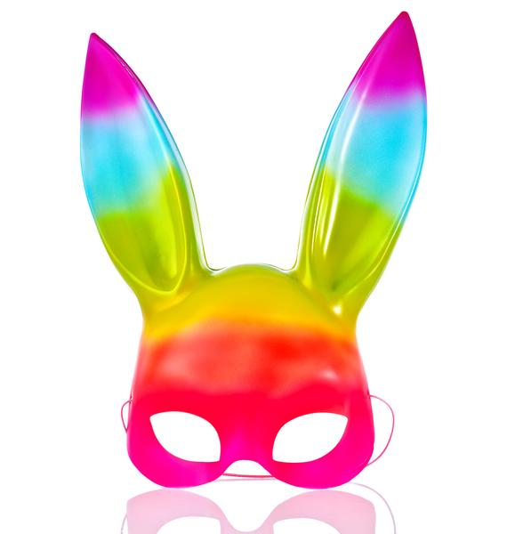 Down The Rabbit Hole Rainbow Bunny Mask