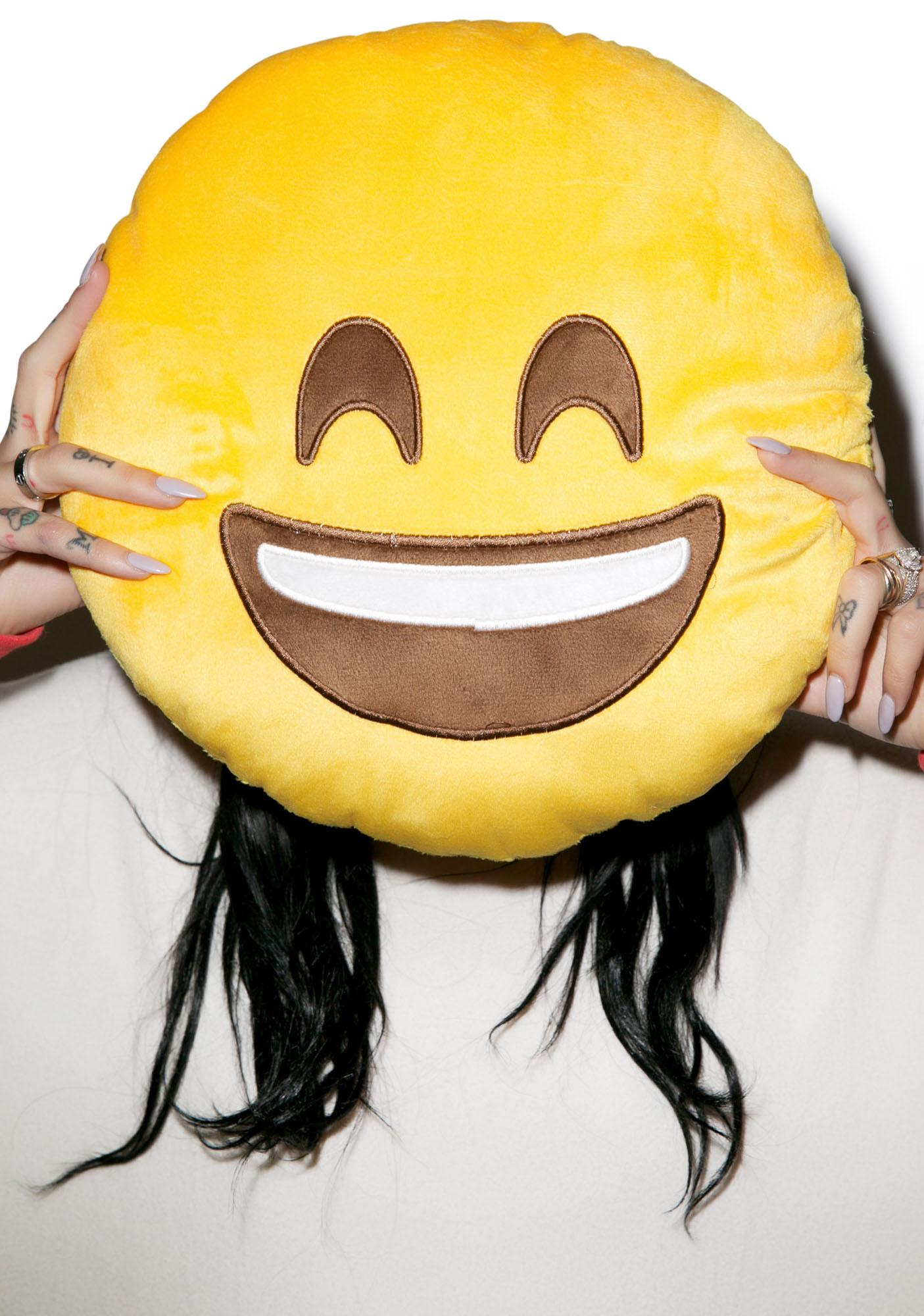Smiley Emoji Pillow