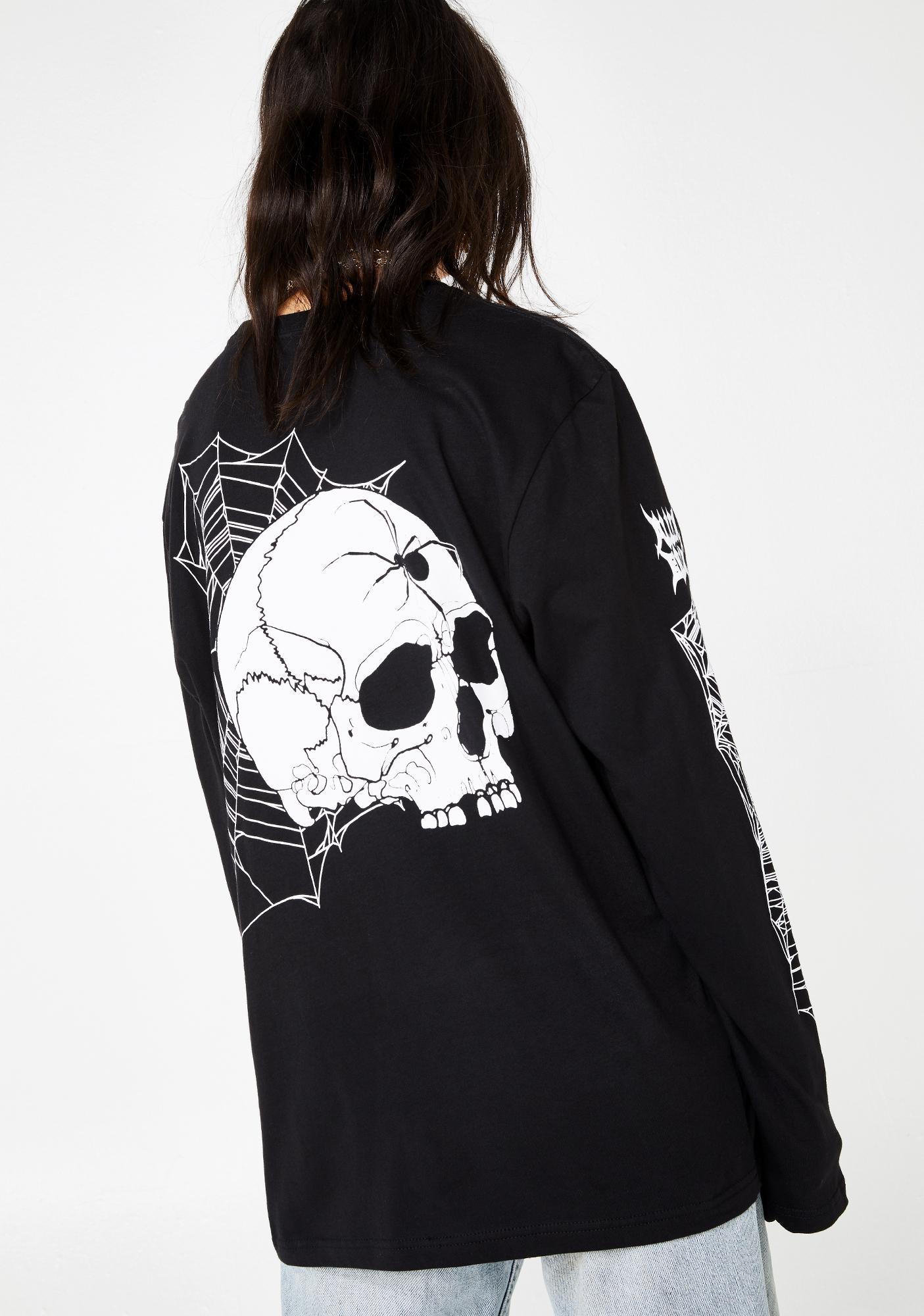 ALIEN BODY X Zac Scheinbaum Spider Skull Graphic Tee