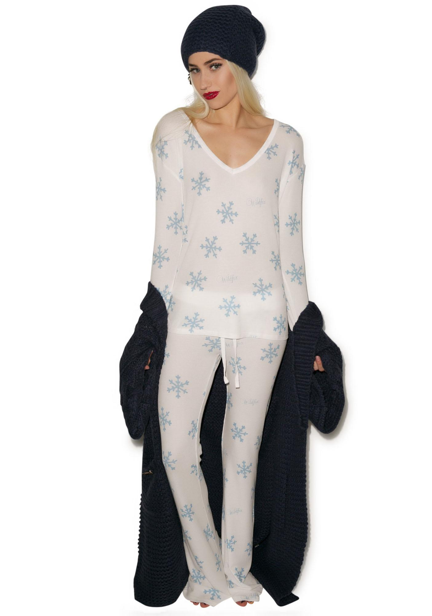Wildfox Couture Snowflake Polar Pajama Set  85bb9ec73