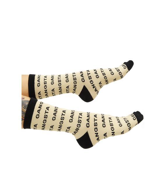 Gumball Poodle Gangsta Crew Socks