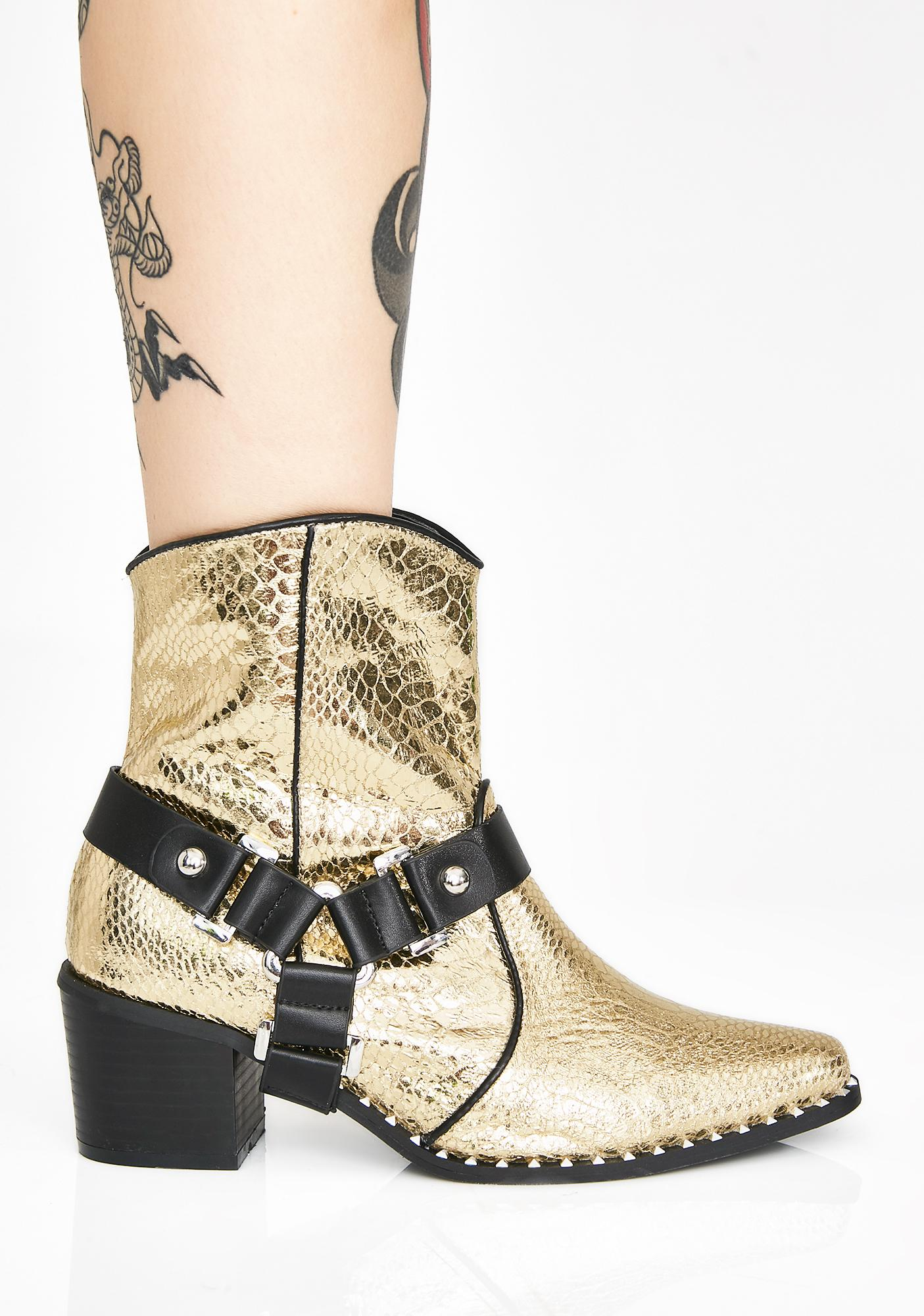 Gilded Frontier Fighter Cowboy Boots