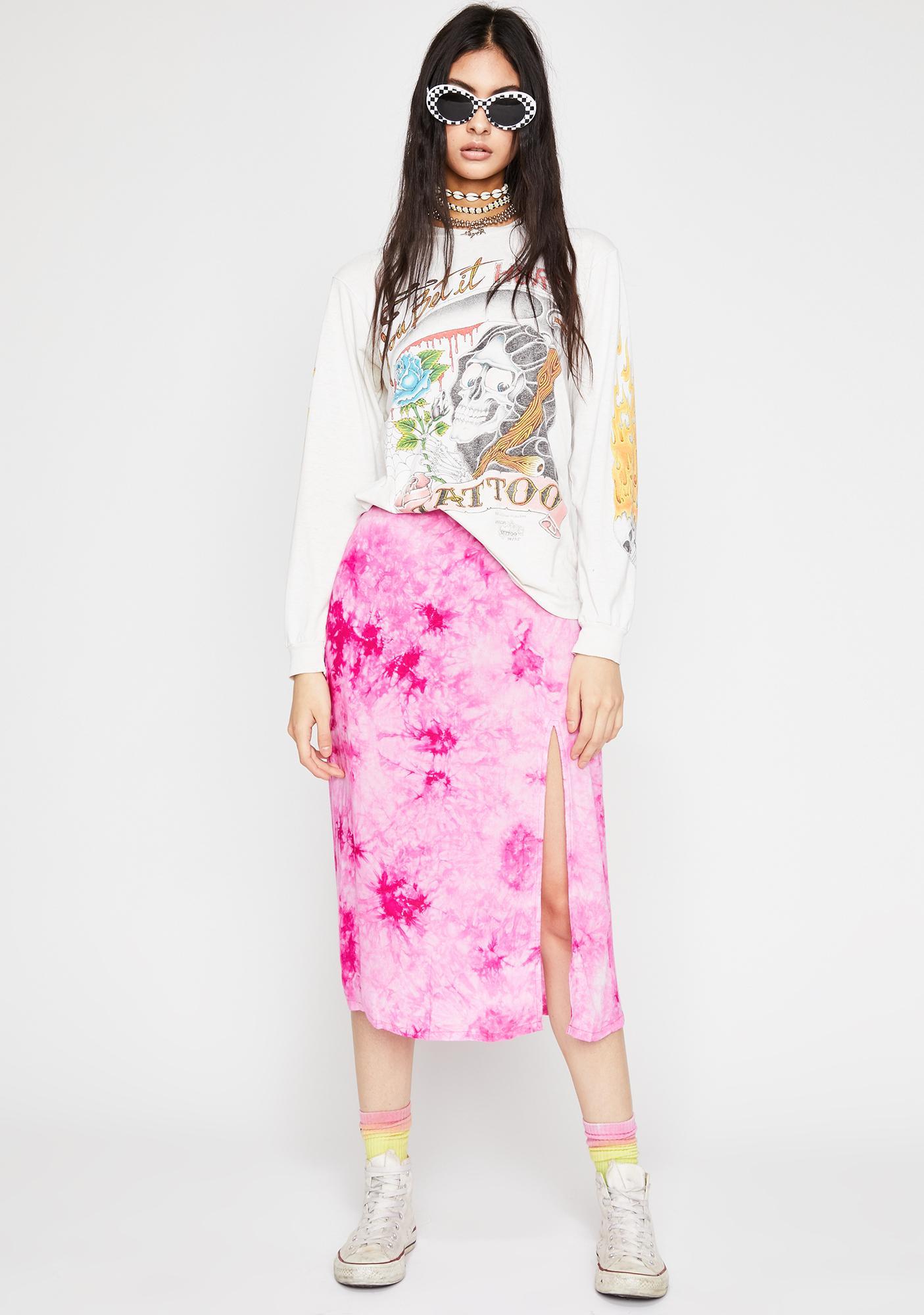 Catch My Vibe Tie Dye Skirt