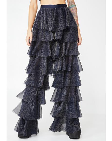 Navy Disco Witch Tulle Pants