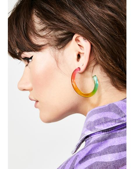 Psychedelic Pixie Hoop Earrings