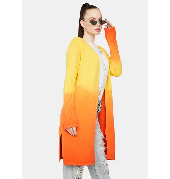Chasing Sunsets Ombre Cardigan
