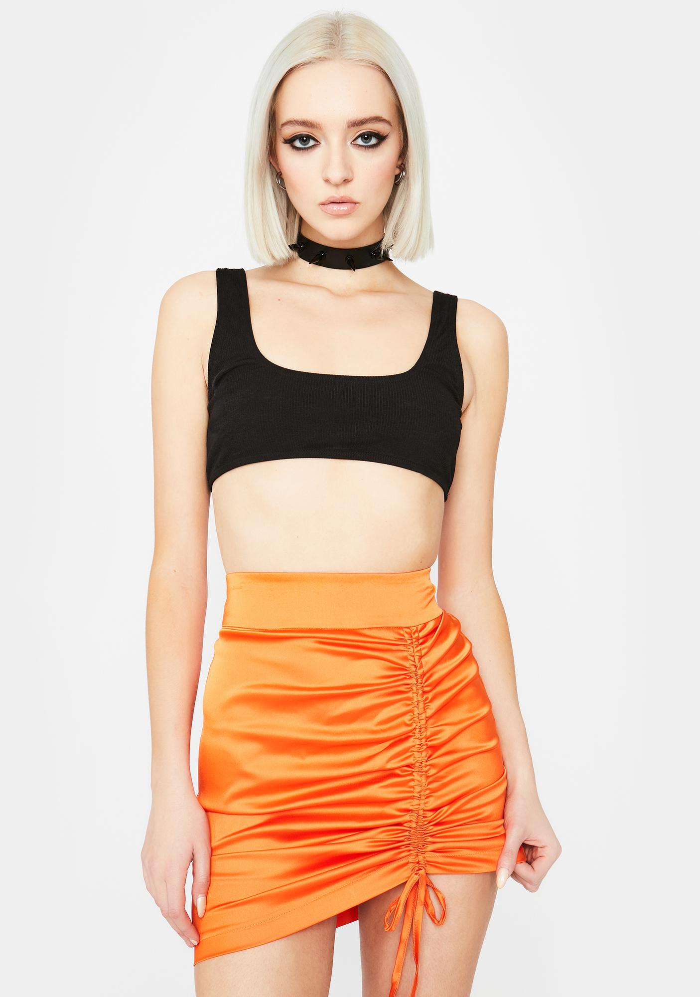 No Vacancy Cinched Skirt